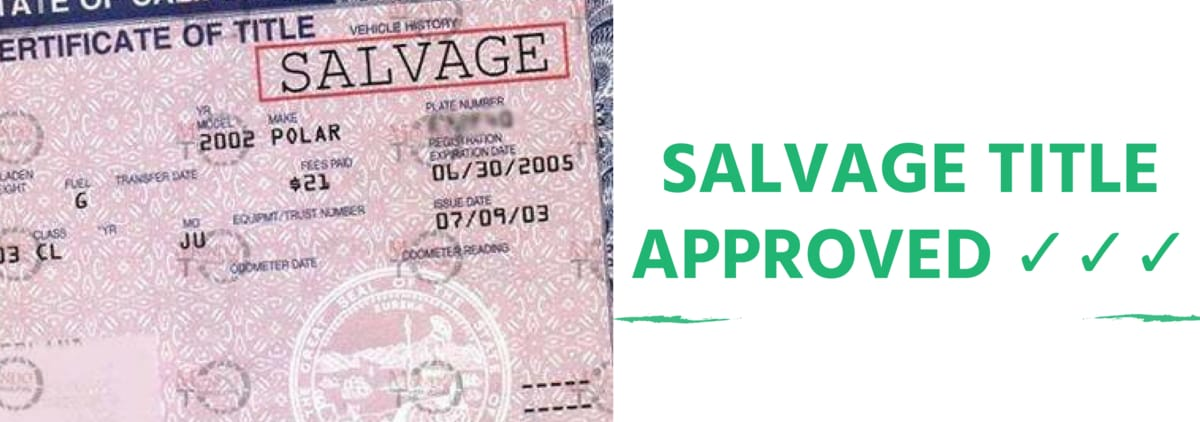 Salvage Title Loans Available Here